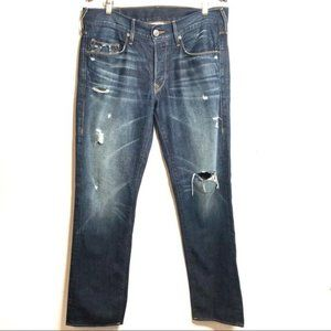 True Religion Distressed Jack Relaxed Fit Jeans